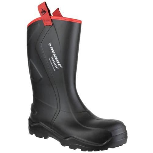 Dunlop Purofort+ Rugged Safety Wellingtons Black